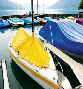 Image of Boats with Covers Made from Marine Fabrics