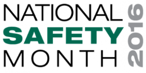 National Safety Month 2016 in wording