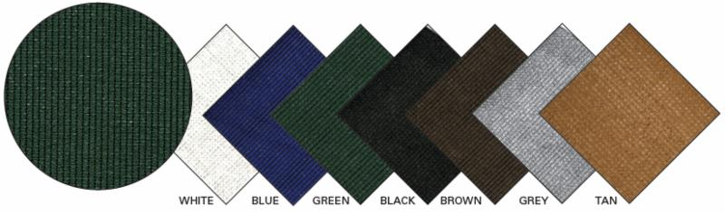 Super Shade Mesh Colors to Choose From