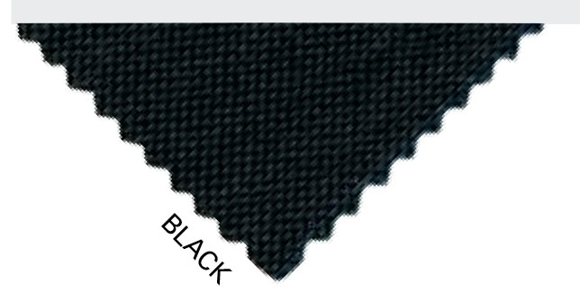 Black ballistic nylon fabric swatch
